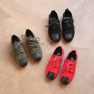 Flats Shoes Loafers Baby Fashion 3 Colors Retro Children Casual Girls Boys