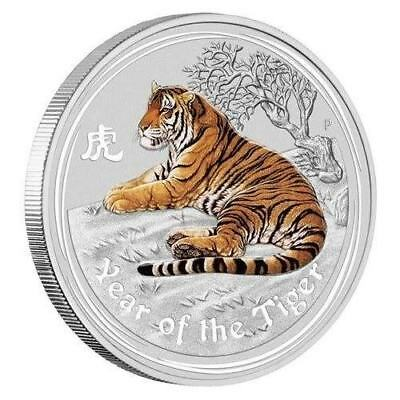 2010 Half oz Silver Perth Mint Lunar Year of the Tiger COLOR Coin