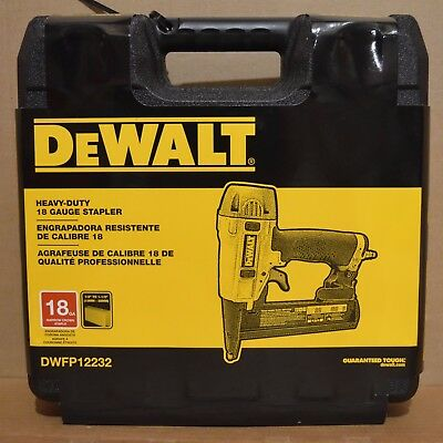 "Brand New DEWALT DWFP12232 18-Gauge 1-1/2"" Narrow Crown Stapler Kit"