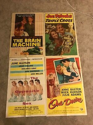 Lot of 4 original vintage 27x41 one sheet movie posters! 1940s - 1980s