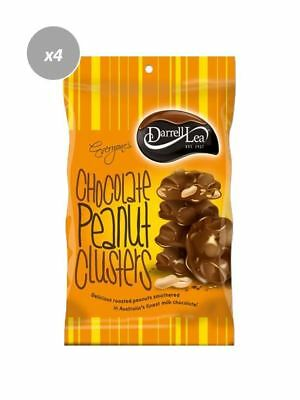 901908 4 x 135g BAGS OF DARRELL LEA CHOCOLATE PEANUT CLUSTERS ROASTED PIECES