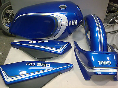 Yamaha Rd250Lc Rd350Lc 4Lo 4L1 3 Stripe For Candy Blue Paintwork Full Decal Kit