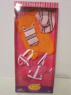 Only Hearts Club Ready To Wear Fashion Outfit Beach Towel Swimsuit Hat Bag NEW