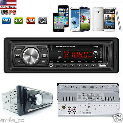 Car Auto Stereo Audio In-Dash Aux Input Receiver MP3/USB/SD/MMC/FM Radio Player