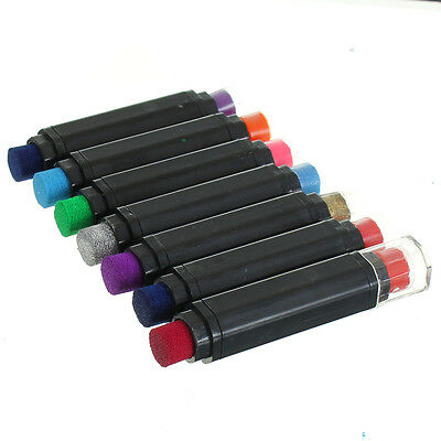 7pcs 2In1 Multicolor Ink Pad Pens Rubber Stamps DIY Scrapbooking Hand Card Craft