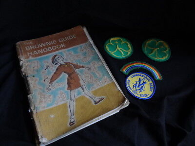 The Brownie Guide Handbook ~  1972 Edition + Badges