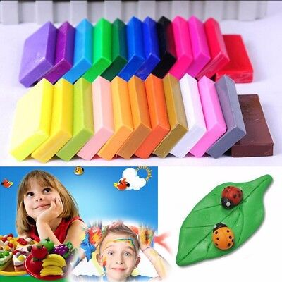 32 Color Set Oven Bake Polymer Clay Block Modelling Moulding Sculpey Toys 5 Tool