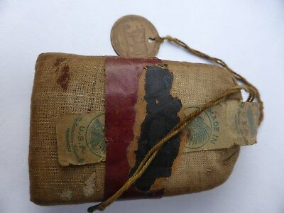 vintage red indian brand tobacco pouch 1920s
