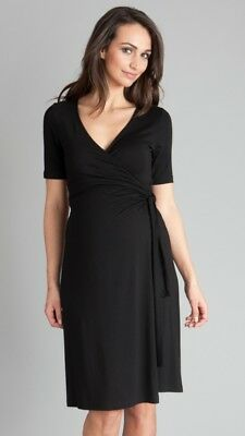 Seraphine Renee black wrap dress 12