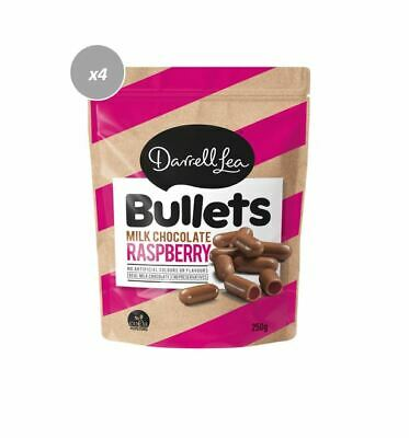 902383 4 x 200g BAGS OF DARRELL LEA RASPBERRY MILK CHOCOLATE BULLETS! AUS