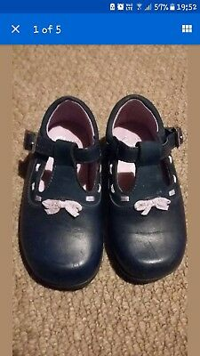 Clarks Navy First Shoes size 5.5f