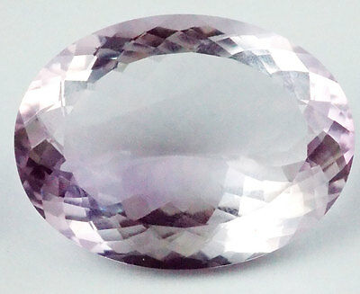1 Pieces Natural Amethyst Oval 30x40mm 113Cts Normal Cut Handmade Loose Gemstone