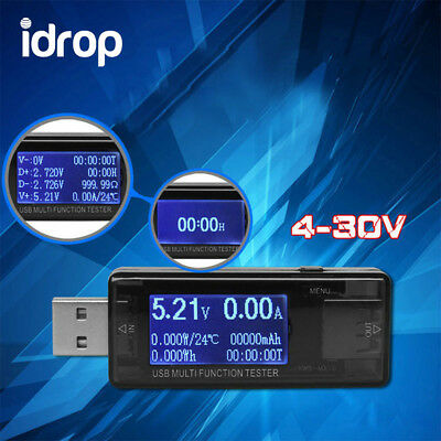 idrop KWS-MXI6 USB Safety Tester LCD Charger Voltage Current Meter Battery Power