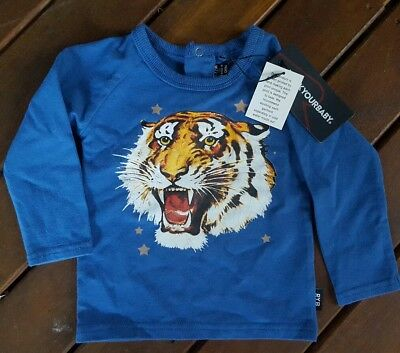 Rock your baby long sleeve top, size 0, 6 - 12 months, tiger, NEW