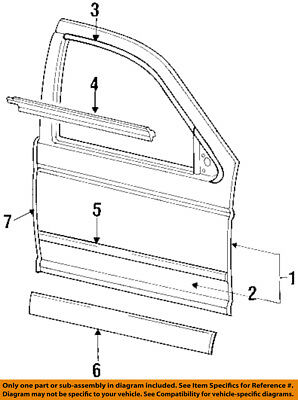 FORD OEM Front Door-Reveal Molding Right F4DZ5420846BAA