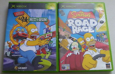 2 XBOX GAMES: The Simpsons Hit and Run + The Simpsons Road Rage, PAL