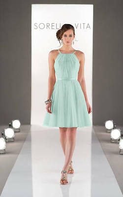 Evening, Cocktail, Bridesmaids Dress Mint Tulle Size 16 By Sorella Vita