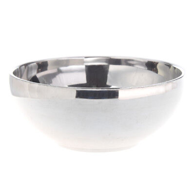 "Family Tableware 4.6"" Dia Round Shaped Silver Tone Stainless Steel Rice Bowl SS"