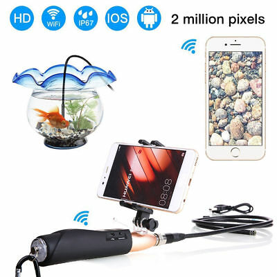 Handheld WIFI Rigid Endoscope Android 5.5.mm 1M Borescope Inspection Camera IOS