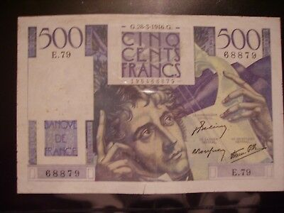 500 francs chateaubriand 28.3.1946