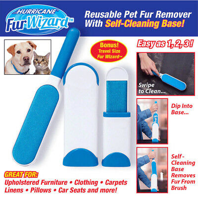 Pet Hair & Lint Remover Magic Clear Cloth Dog Cat Hair Brush Cleaner Brusher UK