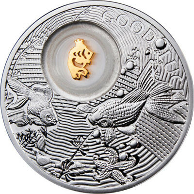 Niue 2013 2$ Goldfish Lucky Coins II Proof Silver Coin