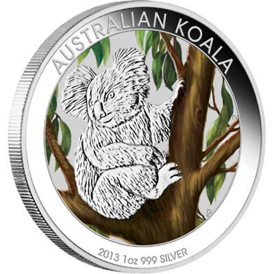 Australia 2013 1$ Discover Australia - Koala Colored Proof Silver Coin