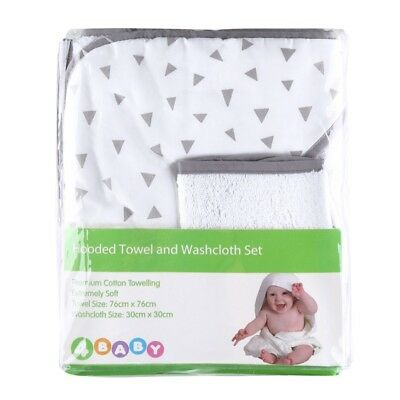 4Baby Hooded Towel Set - Triangles