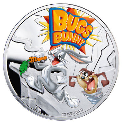 Niue 2013 1$ Bugs Bunny Cartoon Characters Proof Silver Coin