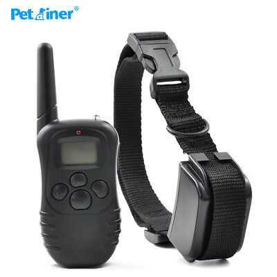 Rainproof Rechargeable Electric Control Dog Collar 300M Training Shock & Beeper