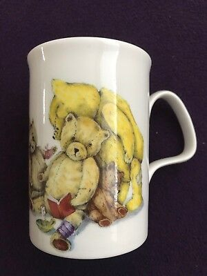 "ROY KIRKHAM Bone China 4"" Tall MUG TEDDIES Teddy Bears"