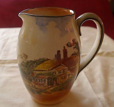 Large Royal Doulton Jug with Rustic Cottage Scene