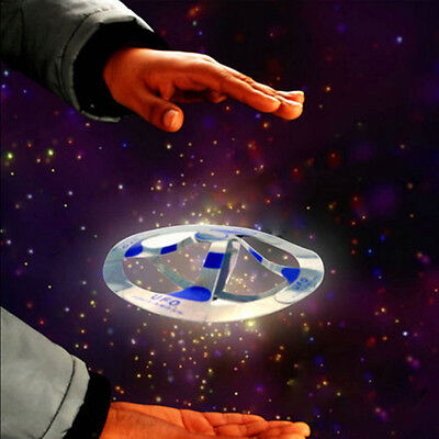 1PC Creative Mystery UFO Floating Flying Disk Hovers Saucer Magic Trick Toy Gift