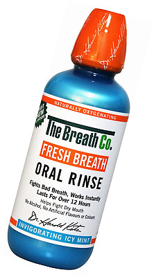 The Breath Co Fresh Breath Oral Rinse, 500 ml - Icy Mint