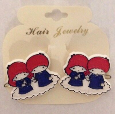 """Vintage Childrens Barrettes Plastic With Wire Back """" Hair Jewelry""""  France"""