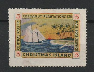Christmas Islands 5 cent Mailboat Service stamp