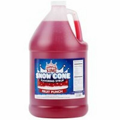Carnival King Snow Cone Syrups 1 Gallon - Fruit Punch