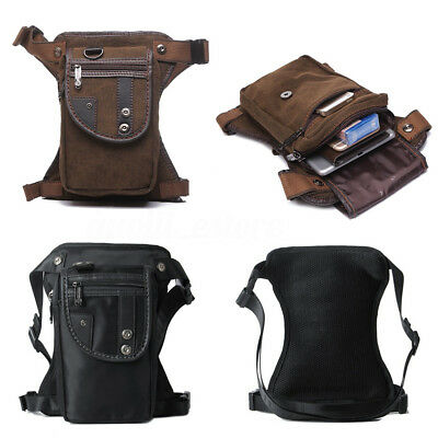 New Men Nylon Canvas Multi-purpose Waist Bag Leg Drop Bag Fanny Pack Motorcycle
