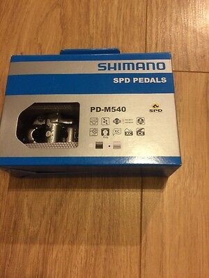 Shimano PD M540 SPD Clipless Pedals & Cleats Silver