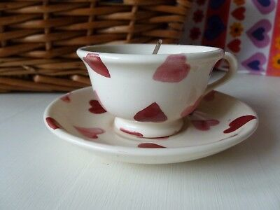 Emma Bridgewater Pink Hearts Dollies/Tiny Cup and Saucer with Candle