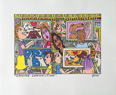 James Rizzi - Canine Connection - Farblithografie