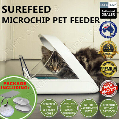 SureFlap SureFeed Microchip Pet Feeder Multi Cat Seal Bowl Stop Food Theft RFID