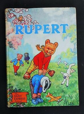 Original 1958 Rupert Bear Annual, Price Unclipped 5/-