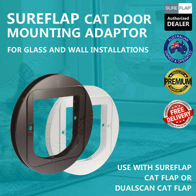 SureFlap Cat Door Mounting Adaptor CatFlap Glass Wall Install DualScan Microchip