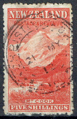 "Old NEW ZEALAND 1898, Five Shilling ""MT. COOK"", CV $800, Start price US$19, 4661"