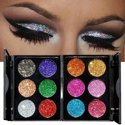 Shimmer Glitter Eye Shadow Powder Palette Matte Eyeshadow Cosmetic Makeup 6Color