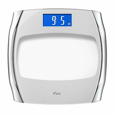Weightwatchers 8929U Designer Electronic Precision Scale Blue Backlit Display