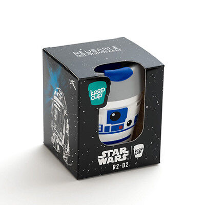 Star Wars KeepCup Coffee Cups Reusable R2D2 8oz 227ml Robot Droid Fun Characters