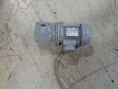 Ber Mar 0.35HP 1690RPM 346/600V TEFC 3Ph 0.9/0.5A C/W Gearbox 20:1 Ratio  USED