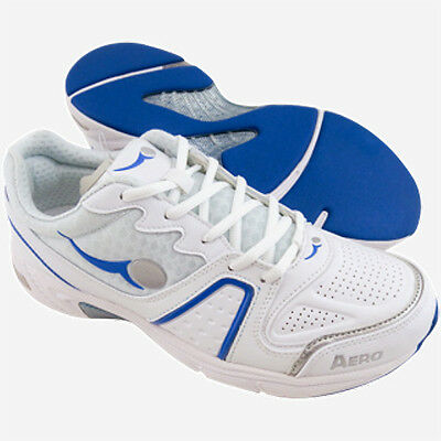 Aero/comfitpro Gents Aero Flex Bowls Shoe White/blue - New. Various Sizes.